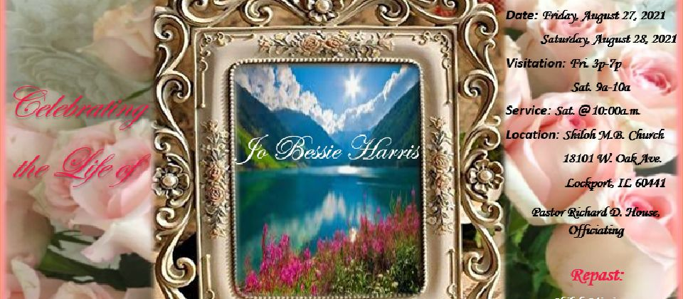 Funeral Services - Sis. Jo Bessie Harris