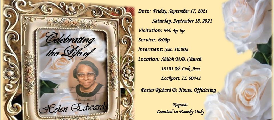 Funeral Services: Mother Edwards