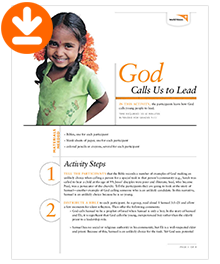 God Calls US To Lead