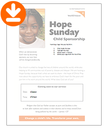 Hope Sunday Bulletin Insert