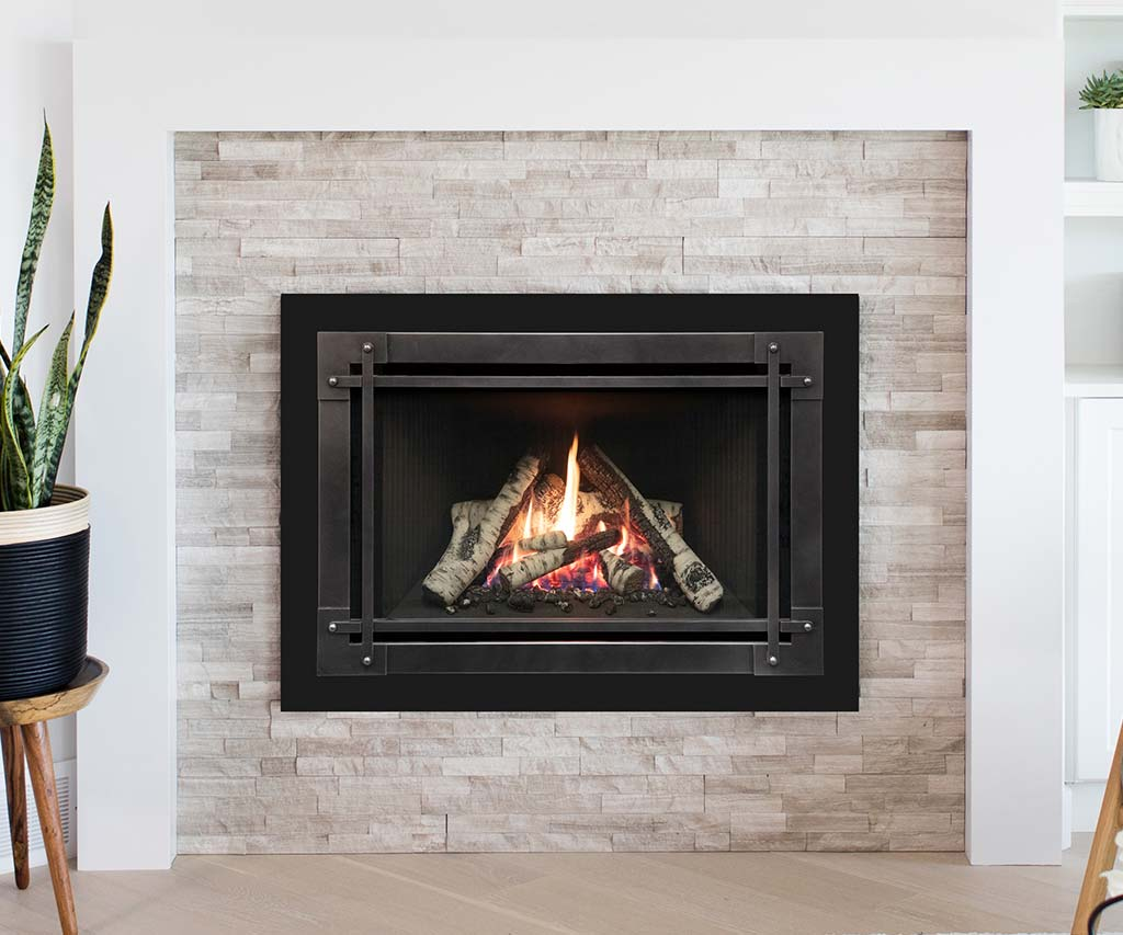 Natural gas or propane fireplace